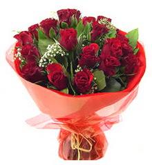 Muğla çiçek gönderme  11 adet kimizi gülün ihtisami buket modeli