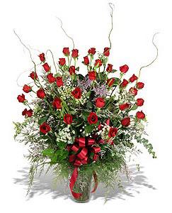 Muğla çiçek servisi , çiçekçi adresleri  33 adet kirmizi gül vazo içerisinde