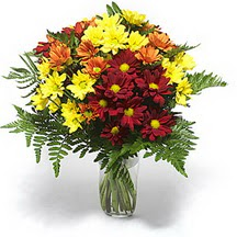 Muğla çiçek servisi , çiçekçi adresleri  Karisik çiçeklerden mevsim vazosu