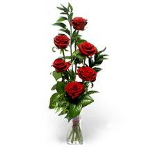 Muğla çiçek servisi , çiçekçi adresleri  cam yada mika vazo içerisinde 6 adet kirmizi gül