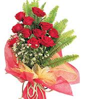 11 adet kaliteli görsel kirmizi gül  Muğla uluslararası çiçek gönderme