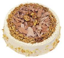 Karamelli 4 ile 6 kisilik yas pasta  Muğla online çiçek gönderme sipariş