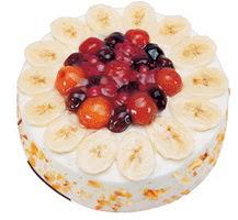 Meyvali 4 ile 6 kisilik yas pasta leziz  Muğla anneler günü çiçek yolla