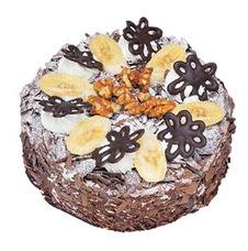 Muzlu çikolatali yas pasta 4 ile 6 kisilik   Muğla çiçek gönderme sitemiz güvenlidir