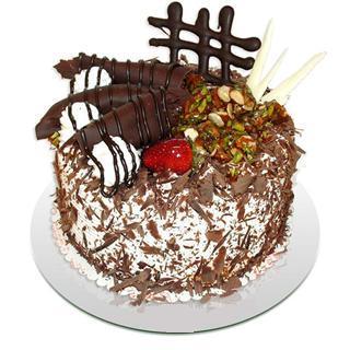 4 ile 6 kisilik çikolatali yas pasta  Muğla hediye çiçek yolla