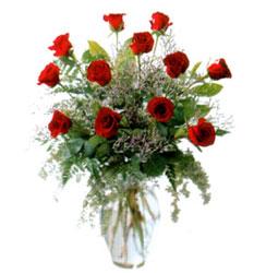 Vazo içerisinde 11 kirmizi gül  Muğla yurtiçi ve yurtdışı çiçek siparişi