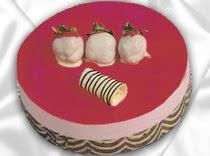 pasta siparisi 4 ile 6 kisilik yas pasta çilekli yaspasta  Muğla çiçek , çiçekçi , çiçekçilik