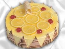 taze pastaci 4 ile 6 kisilik yas pasta limonlu yaspasta  Muğla online çiçekçi , çiçek siparişi