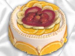 leziz pastane 4 ile 6 kisilik yas pasta meyvali yaspasta  Muğla hediye çiçek yolla