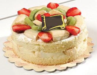pasta siparisi 4 ile 6 kisilik karisik meyvali yas pasta  Muğla çiçek , çiçekçi , çiçekçilik