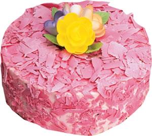 pasta siparisi 4 ile 6 kisilik framboazli yas pasta  Muğla online çiçek gönderme sipariş