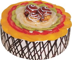 pasta siparisi 4 ile 6 kisilik meyvali yas pasta  Muğla uluslararası çiçek gönderme