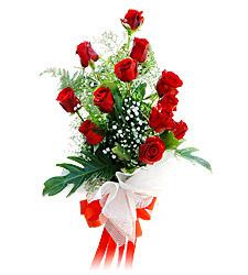 11 adet kirmizi güllerden görsel sölen buket  Muğla yurtiçi ve yurtdışı çiçek siparişi