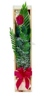 1 adet kutuda kirmizi gül  Muğla çiçek siparişi vermek
