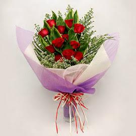 çiçekçi dükkanindan 11 adet gül buket  Muğla çiçek online çiçek siparişi