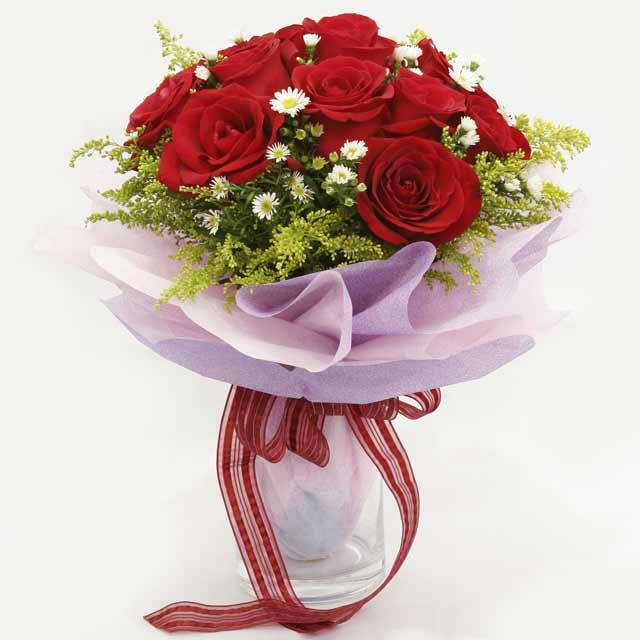 Çiçek gönderme estetikliginiz 11 gül buket  Muğla çiçek online çiçek siparişi