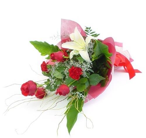 Mevsim çiçeklerinden karisik buket  Muğla çiçek yolla , çiçek gönder , çiçekçi