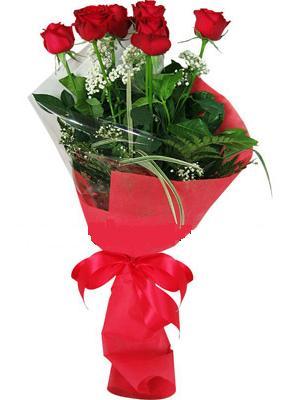 7 adet kirmizi gül buketi  Muğla çiçekçiler