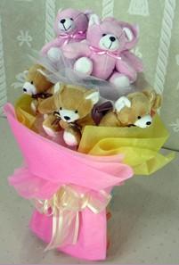 8 adet ayiciktan buket  Muğla çiçek yolla , çiçek gönder , çiçekçi