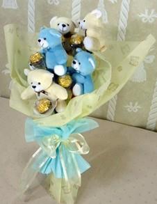 6 adet ayiciktan buket tanzimi  Muğla İnternetten çiçek siparişi
