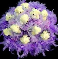11 adet pelus ayicik buketi  Muğla 14 şubat sevgililer günü çiçek