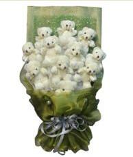 11 adet pelus ayicik buketi  Muğla online çiçekçi , çiçek siparişi