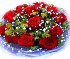 9 adet kirmizi güllerden buket  Muğla cicekciler , cicek siparisi
