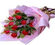 11 adet kirmizi güllerden görsel buket  Muğla çiçek siparişi vermek