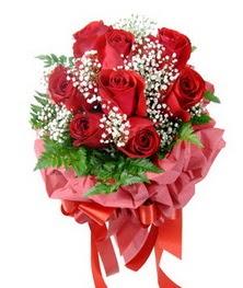 9 adet en kaliteli gülden kirmizi buket  Muğla çiçek , çiçekçi , çiçekçilik