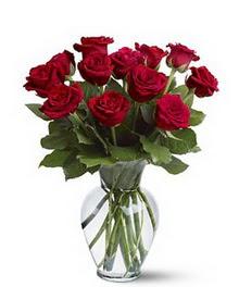 Muğla çiçek siparişi vermek  cam yada mika vazoda 10 kirmizi gül
