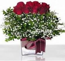 Muğla çiçek mağazası , çiçekçi adresleri  mika yada cam vazo içerisinde 7 adet gül