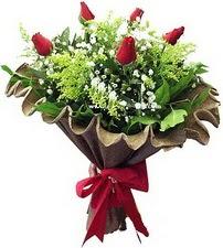 Muğla online çiçekçi , çiçek siparişi  5 adet kirmizi gül buketi demeti