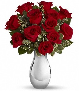 Muğla yurtiçi ve yurtdışı çiçek siparişi   vazo içerisinde 11 adet kırmızı gül tanzimi