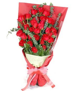Muğla cicek , cicekci  37 adet kırmızı güllerden buket