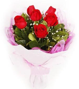 Muğla çiçekçi telefonları  kırmızı 6 adet gülden buket