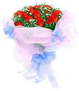 Muğla çiçek servisi , çiçekçi adresleri  11 adet kırmızı güllerden buket modeli