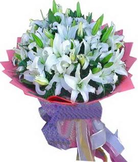 7 dal cazablanca görsel buketi  Muğla çiçek online çiçek siparişi