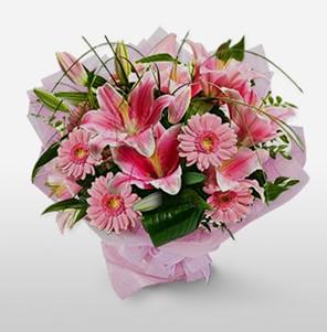 1 dal kazablanka ve kır çiçek görsel buketi  Muğla çiçek mağazası , çiçekçi adresleri