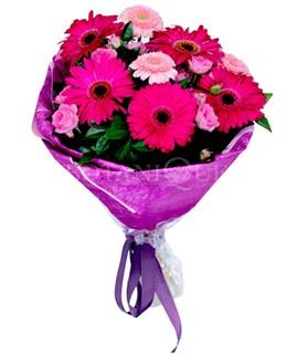 Muğla çiçek servisi , çiçekçi adresleri  karışık gerbera çiçeği buketi