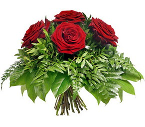 Muğla ucuz çiçek gönder  5 adet kırmızı gülden buket