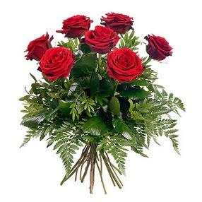 Muğla online çiçekçi , çiçek siparişi  7 adet kırmızı gülden buket