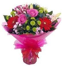 Karışık mevsim çiçekleri demeti  Muğla online çiçekçi , çiçek siparişi