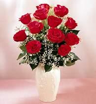 Muğla çiçek online çiçek siparişi  9 adet vazoda özel tanzim kirmizi gül