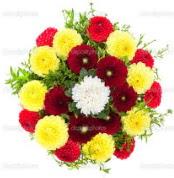 Muğla çiçek online çiçek siparişi  13 adet mevsim çiçeğinden görsel buket