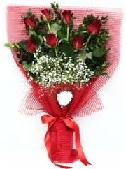 7 adet kırmızı gülden buket tanzimi  Muğla çiçek yolla , çiçek gönder , çiçekçi
