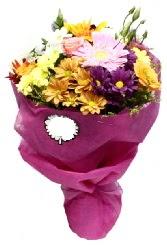 1 demet karışık görsel buket  Muğla çiçek gönderme