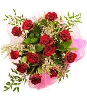 12 adet kırmızı gül buketi  Muğla çiçek yolla