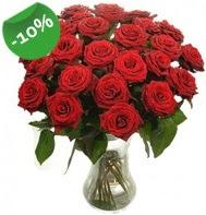 Vazo içerisinde 25 adet kırmızı gül  Muğla çiçek yolla , çiçek gönder , çiçekçi