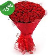51 adet kırmızı gül buketi özel hissedenlere  Muğla çiçek servisi , çiçekçi adresleri