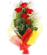 5 li kırmızı gül buketi  Muğla çiçek mağazası , çiçekçi adresleri